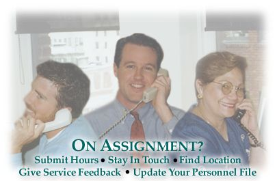 On assignment staffing services